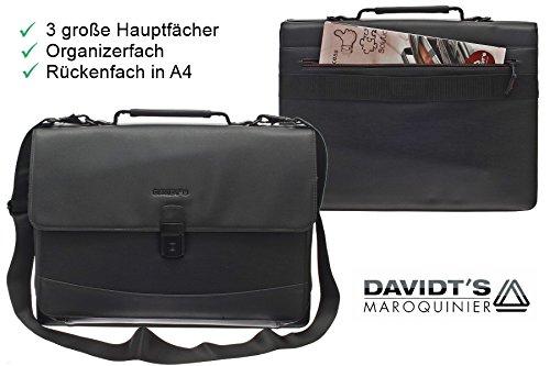 Bag Street Business Aktentasche Tasche Messenger Laptop Leder Optik Herrentasche